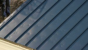 photo of hail damage to a metal roof in san antonio